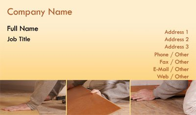Beige Gradient Flooring Business Card Template